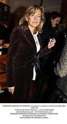 PRINCESS CHANTAL OF HANOVER  at a party in London on 18th November 2003.<br /> POS 166