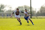 SFC at Trim, April 10th 2016.<br /> Navan O`Mahonys vs Moynalvey<br /> Alan Forde (Navan O`Mahonys) & 25 (Moynalvey)<br /> Photo: David Mullen /www.cyberimages.net / 2016