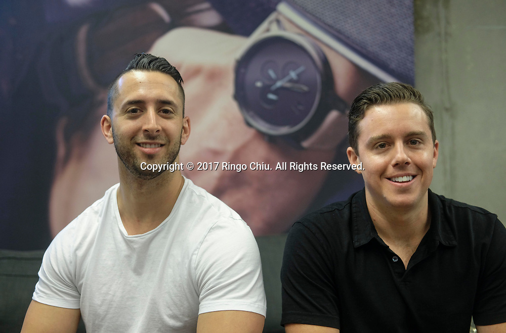Jake Kassan, left, and Kramer LaPlante, co-founders of MVMT Watches.(Photo by Ringo Chiu)<br /> <br /> Usage Notes: This content is intended for editorial use only. For other uses, additional clearances may be required.