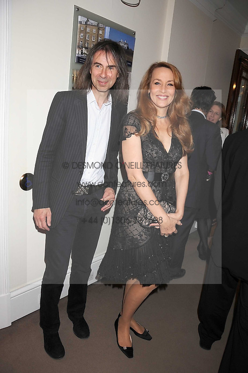 JERRY HALL and IVOR BRAKA at the annual Sotheby's Summer Party held at their auction rooms 34-35 New Bond Street, London W1 on 19th June 2008.<br />
