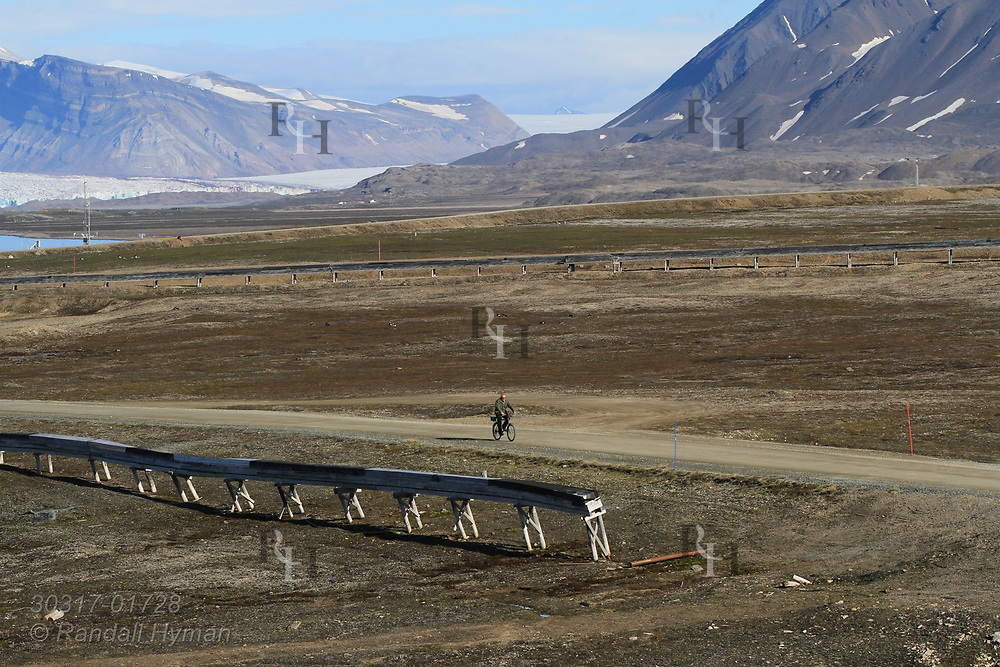 Summertime at the international science village of Ny-Alesund on Spitsbergen island in Kongsfjorden; Svalbard, Norway.