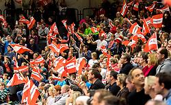 28.10.2018, Raiffeisen Sportpark, Graz, AUT, EHF, Euro Cup, Österreich vs Schweden, im Bild Fans von Österreich// during the EHF Euro Cup Match between Austria and Sweden at the Raiffeisen Sportpark, Graz, Austria on 2018/10/28. EXPA Pictures © 2018, PhotoCredit: EXPA/ Sebastian Pucher