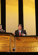 27 August 2007: Democratic presidential hopeful and New Mexico Governor Bill Richardson answers a question at the LIVESTRONG Presidential Cancer Forum in Cedar Rapids, Iowa on August 27, 2007.