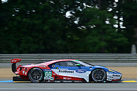 Olivier Pla (FRA) / Stefan Mucke (DUE) / Billy Johnson (USA) #66 Ford Chip Ganassi Racing Team UK Ford GT,  during Le Mans 24 Hr June 2016 at Circuit de la Sarthe, Le Mans, Pays de la Loire, France. June 15 2016. World Copyright Peter Taylor/PSP. Copy of publication required for printed pictures.  Every used picture is fee-liable. http://archive.petertaylor-photographic.co.uk