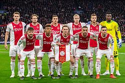 10-04-2019 NED: Champions League AFC Ajax - Juventus,  Amsterdam<br /> Round of 8, 1st leg / Matthijs de Ligt #4 of Ajax, Daley Blind #17 of Ajax, Dusan Tadic #10 of Ajax, Donny van de Beek #6 of Ajax, Joel Veltman #3 of Ajax, Andre Onana #24 of Ajax, Lasse Schone #20 of Ajax, David Neres #7 of Ajax, Frenkie de Jong #21 of Ajax, Hakim Ziyech #22 of Ajax, Nicolas Tagliafico #31 of Ajax