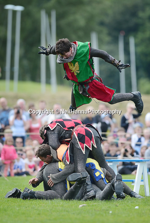 Historic Scotland presents Spectacular Jousting<br /> Linlithgow Palace, 5 July 2014 & 6th July 2014<br /> <br /> Linlithgow Palace provided a spectacular background for a sensational show of medieval skill and chivalry today, Saturday 5th July. Crowds gathered to experience the thunder of hooves and the crack of lances splintering as the knights battled it out in the Jousting arena. The jousting continues tomorrow, 6th July, at the peel, in front of the palace, which is perhaps most famously know as the birthplace of Mary, Queen of Scots.<br /> <br /> <br /> Neil Hanna Photography<br /> www.neilhannaphotography.co.uk<br /> 07702 246823