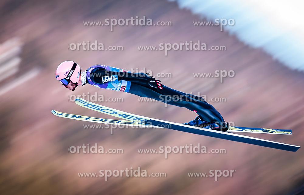 31.12.2017, Olympiaschanze, Garmisch Partenkirchen, GER, FIS Weltcup Ski Sprung, Vierschanzentournee, Garmisch Partenkirchen, Qualifikation, im Bild Manuel Fettner (AUT) // Manuel Fettner of Austria during his Qualification Jump for the Four Hills Tournament of FIS Ski Jumping World Cup at the Olympiaschanze in Garmisch Partenkirchen, Germany on 2017/12/31. EXPA Pictures © 2018, PhotoCredit: EXPA/ JFK