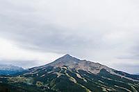 Lone Peak and Lone Peak / Moonlight Basin Ski Resorts in Summer.  Big Sky Montana, USA.