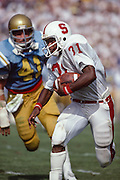 Darrin Nelson #31 of Stanford University in action vs UCLA on Oct 11, 1980 at the Los Angeles Memorial Colisseum in Los Angeles, California.  Photo © 1980 David Madison.