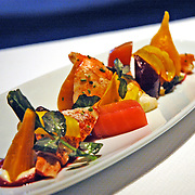 lobster and beet appetizer