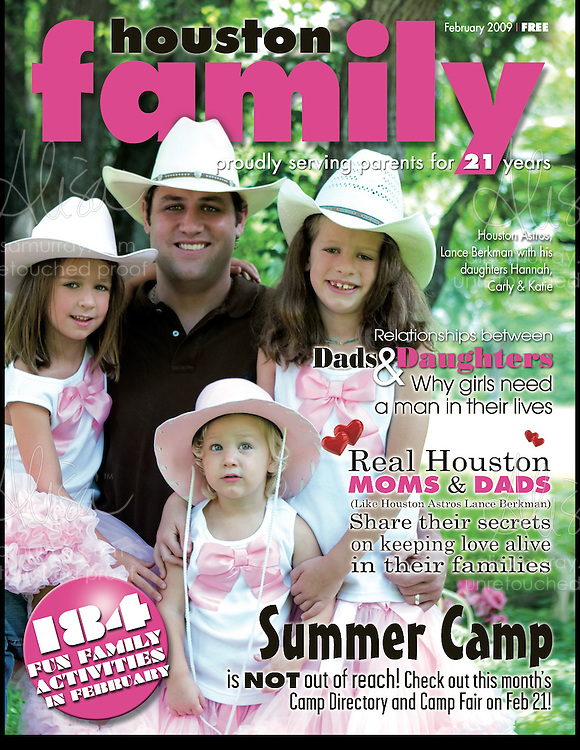 Houston Family Cover February 2009  Lance Berkman