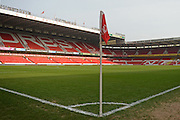 Corner flag ahead of the Sky Bet Championship match between Nottingham Forest and Sheffield Wednesday at the City Ground, Nottingham, England on 12 March 2016. Photo by Jon Hobley.