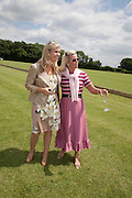 GIOVANNA QUINNL BRIDGET HANBURY, The Dalwhinnie Crook  charity Polo match  at Longdole  Polo Club, Birdlip  hosted by the Halcyon Gallery. . 12 June 2010. -DO NOT ARCHIVE-© Copyright Photograph by Dafydd Jones. 248 Clapham Rd. London SW9 0PZ. Tel 0207 820 0771. www.dafjones.com.