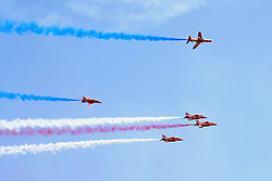 July 8, 2018 - Silverstone, Great Britain - Motorsports: FIA Formula One World Championship 2018, Grand Prix of Great Britain, ..flight show, airshow, Flugshow, Flugschau, Flugzeuge, airplanes, aircraft  (Credit Image: © Hoch Zwei via ZUMA Wire)