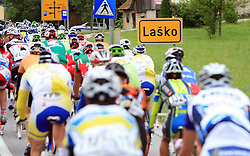 Riders at Lasko in last 4th stage of the 15th Tour de Slovenie from Celje to Novo mesto (157 km), on June 14,2008, Slovenia. (Photo by Vid Ponikvar / Sportal Images)/ Sportida)