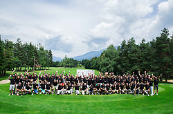 Group photo during the 5th Charity Golf Tournament with Anze Kopitar on June 27, 2015 in Bled Golf Course, Slovenia. Photo by Vid Ponikvar / Sportida