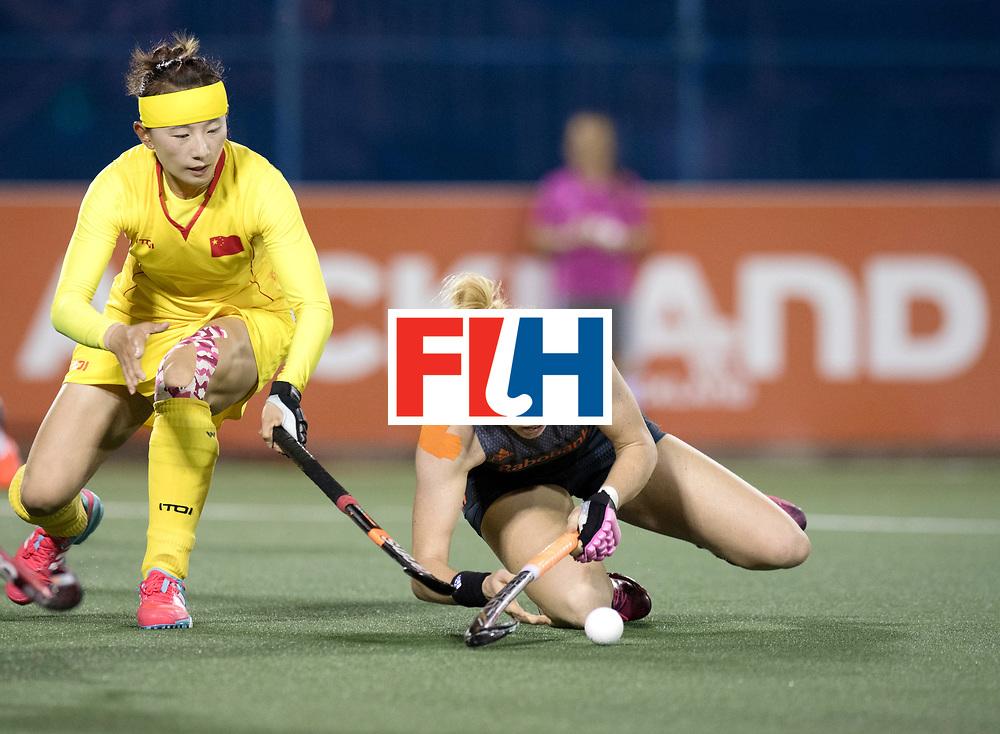 AUCKLAND - Sentinel Hockey World League final women<br /> Match id: 10305<br /> 16 NED v CHina (QF)<br /> Foto: Margot van Geffen .<br /> WORLDSPORTPICS COPYRIGHT FRANK UIJLENBROEK