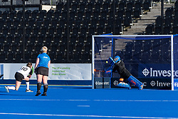Harleston Magpies v Canterbury - Investec Women's O35s T1 Final, Lee Valley Hockey & Tennis Centre, London, UK on 05 May 2018. Photo: Simon Parker
