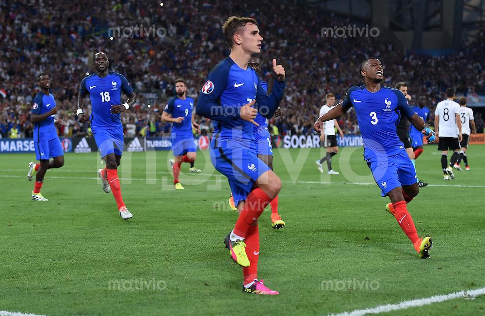 FUSSBALL EURO 2016 HALBFINALE IN MARSEILLE  Deutschland - Frankreich                 07.07.2016 Antoine Griezmann (Frankreich) jubelt nach seinem Tor zum 0:1