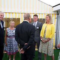 Duke of Edinburgh, Prince Philip, Visits, Island Sailing Club, Cowes Week, Cowes, Isle of Wight, England, UK, 2016,