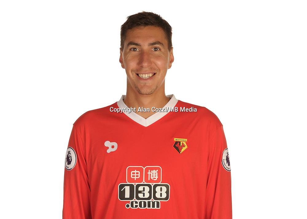 Watford FC Season 2016-17 Premier Lge<br /> Pic Alan Cozzi 02/08/2016<br /> Sopwell House Photocall Headshot's<br /> Watford's Costel Pantilimon