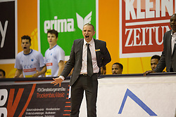 18.11.2015, Walfersamhalle, Kapfenberg, AUT, FIBA Europe Cup, ece Bulls Kapfenberg vs Le Havre, im Bild Head Coach, Michael Schrittwieser (Bulls Kapfenberg) // during the FIBA Europe Cup, between ece Bulls Kapfenberg and Le Havre at the Sportscenter Walfersam, Kapfenberg, Austria on 2015/11/18, EXPA Pictures © 2015, PhotoCredit: EXPA/ Dominik Angerer