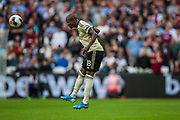 Ashley Young (Capt) (Man United) heads the ball during the Premier League match between West Ham United and Manchester United at the London Stadium, London, England on 22 September 2019.