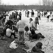 NLD/Leusden/19930103 - Schaatsen Bavoortseweg Leusden