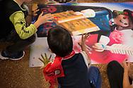 Roma, 28/10/2017: Attivit&agrave; di gioco dei bambini e bambine  della scuola domenicale, tempio Valdese di piazza Cavour. Celebrazioni per i 500 anni dalla Riforma Protestante promossa dalla FCEI e dalla Consulta delle chiese evangeliche.<br /> &copy; Andrea Sabbadini