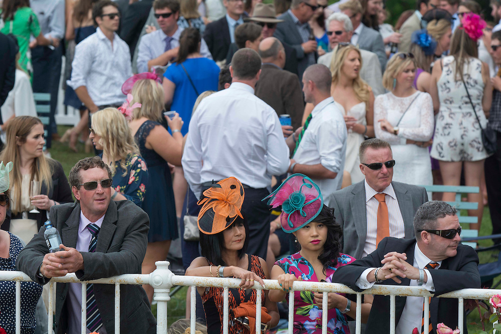 Faces in the crowd, Riccarton Racecourse, Christchurch, New Zealand, Saturday, 14 November, 2015.  <br /> Credit:SNPA / David Alexander