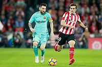 Athletic de Bilbao's Inigo Cordoba (r) and FC Barcelona's Leo Messi during La Liga match. October 28,2017. (ALTERPHOTOS/Acero)