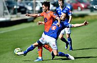 Fotball , 11. mars 2020 , Privatkamp , Aalesund - Ranheim<br /> Niklas Castro , Aalesund<br /> Mats Reginiussen , Ranheim