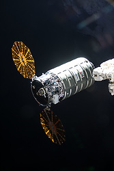 May 24, 2018 - Space - The Orbital ATK space freighter approaches its capture point about 10 meters from the International Space Station where it was grappled with the Canadarm2 robotic arm. (Credit Image: ? NASA/ZUMA Wire/ZUMAPRESS.com)
