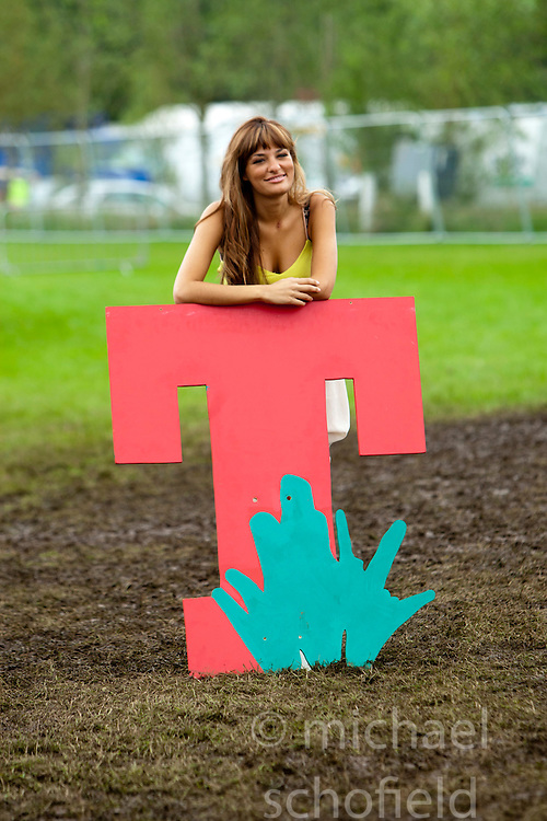 Nicola Benedetti backstage on Sunday at T in the Park 2012, held at Balado, in Fife, Scotland.