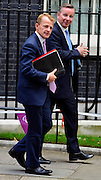 © Licensed to London News Pictures. 11/09/2012. Westminster, UK. (L)David Laws the Minister of State for Schools and the Cabinet Office and Michael Gove Education Secretary. . MP's arrive for Cabinet at number 10 Downing Street today 11/09/12. Photo credit : Stephen Simpson/LNP