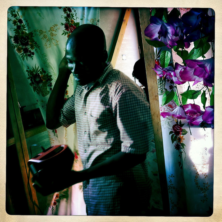 Louisno Clotaire at the Corail camp on Monday, April 2, 2012 in Port-au-Prince, Haiti.