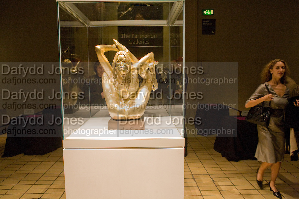 Gold Kate Moss, STATUEPHILIA.The British Museum. 7 October 2008 *** Local Caption *** -DO NOT ARCHIVE-© Copyright Photograph by Dafydd Jones. 248 Clapham Rd. London SW9 0PZ. Tel 0207 820 0771. www.dafjones.com.