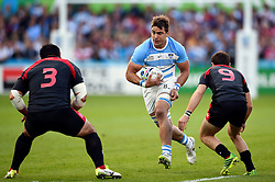 Facundo Isa of Argentina takes on the Georgia defence - Mandatory byline: Patrick Khachfe/JMP - 07966 386802 - 25/09/2015 - RUGBY UNION - Kingsholm Stadium - Gloucester, England - Argentina v Georgia - Rugby World Cup 2015 Pool C.