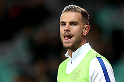 Jordan Henderson of England warms up ahead of captaining his country in Wayne Rooney's absence - Mandatory by-line: Robbie Stephenson/JMP - 11/10/2016 - FOOTBALL - RSC Stozice - Ljubljana, England - Slovenia v England - World Cup European Qualifier