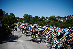 Peloton speed by at Giro Rosa 2018 - Stage 2, a 120.4 km road race starting and finishing in Ovada, Italy on July 7, 2018. Photo by Sean Robinson/velofocus.com