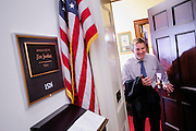 Rep. Jim Jordan (R-OH) leaves his office in the Longworth House Office Building on Capitol Hill. (Photo For The Dispatch by Pete Marovich)