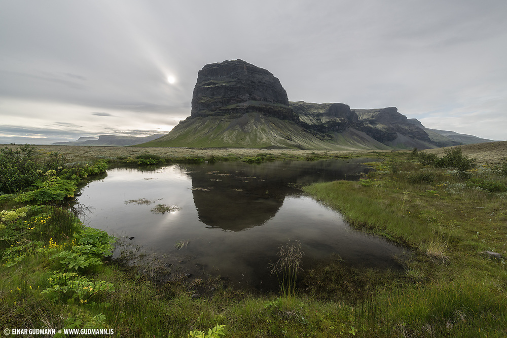 Lomagnupur mountain in Southeast Iceland