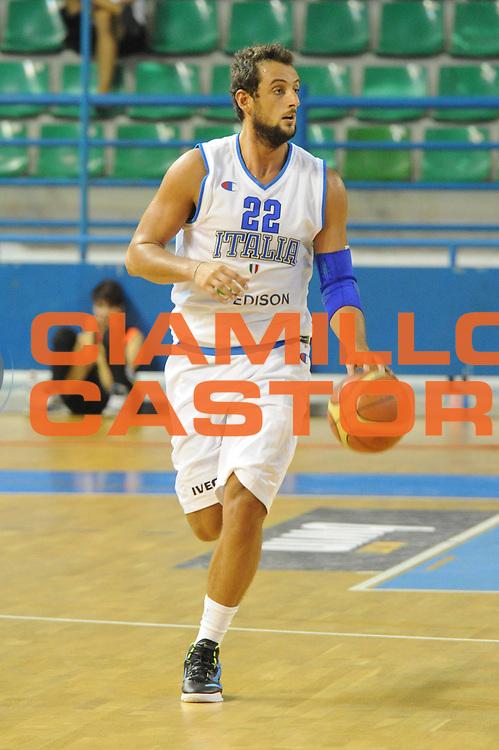DESCRIZIONE : Cipro European Basketball Tour Italia Grecia<br /> GIOCATORE : Marco Bellinelli<br /> CATEGORIA : Palleggio<br /> SQUADRA : Nazionale Italia Uomini <br /> EVENTO : European Basketball Tour <br /> GARA : Italia Grecia<br /> DATA : 05/08/2011 <br /> SPORT : Pallacanestro <br /> AUTORE : Agenzia Ciamillo-Castoria/GiulioCiamillo<br /> Galleria : Fip Nazionali 2011 <br /> Fotonotizia :  Cipro European Basketball Tour Italia Grecia<br /> Predefinita :