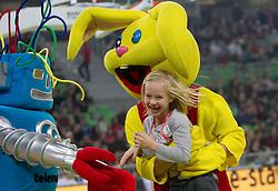 Maskoti na Dnevu slovenske moske kosarke 2010, on January 2, 2011 in Arena Stozice, Ljubljana, Slovenia.  (Photo By Vid Ponikvar / Sportida.com)