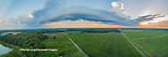63893-03417 Sunset in rural Illinois - panoramic aerial - Marion Co. IL