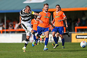 Forest Green Rovers Liam Noble (15) shoots at goal misses the target during the Vanarama National League match between Braintree Town and Forest Green Rovers at the Amlin Stadium, Braintree, United Kingdom on 24 September 2016. Photo by Shane Healey.