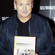 Celebrity Chef Gordon Ramsey signs latest book on 19th December 2016 at Selfridges,London,Uk, Photo by See Li/Picture Capital