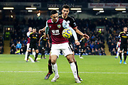 Burnley midfielder Dwight McNeil (11) and Manchester City midfielder Rodri (16) during the Premier League match between Burnley and Manchester City at Turf Moor, Burnley, England on 3 December 2019.