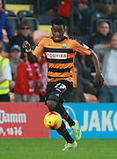 Barnet striker Josh Clarke surges forward during the Sky Bet League 2 match between Barnet and Exeter City at The Hive Stadium, London, England on 31 October 2015. Photo by Bennett Dean.