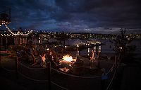 Seattle, Washington- September 30, 2014: The 150-foot dock at the trendy restaurant Westward allows patrons to take their boats for a meal or just to take in the amazing view with a cocktail on the shores of North Lake Union. The nautical-themed restaurant specializes in contemporary Northwest and Mediterranean flavors but also features a small grocery and oyster bar, which offers a selection of locally-harvested oysters. CREDIT: Chris Carmichael for the New York Times